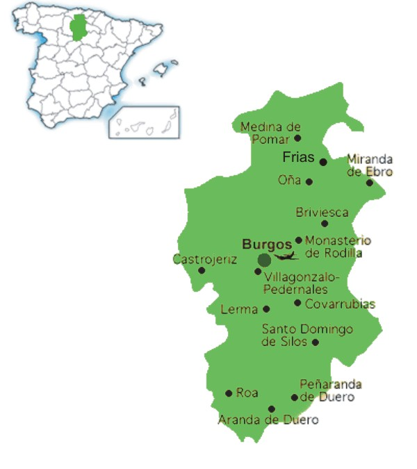 burgos blank spain region sea mediterranean of map maps